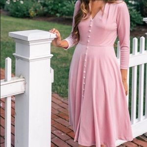 COPY - Velvet pink knee-length dress! NWT🎀